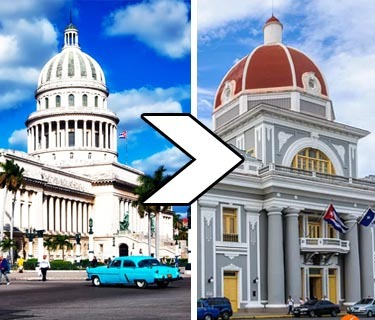 from Havana to Cienfuegos