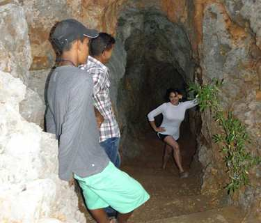 "Excursion to the cave ""Cueva de los 7 pisos"" in..."